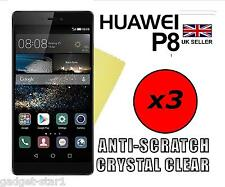 3x HQ CRYSTAL CLEAR SCREEN PROTECTOR HD COVER SAVER FILM GUARD FOR HUAWEI P8