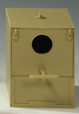 SUPERIOR QUALITY  PLASTIC FINCH NEST BOX - ROUND ENTRANCE