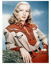 VERONICA LAKE great color portriat still in Western outfit - (c793)