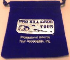 "Royal Blue Velour Pro Billiards Tour Pouch with Draw String 3 1/16"" X 2 5/8"""