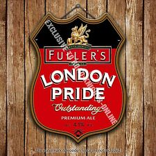 Fuller's London Pride Beer Advertising Pub Metal Pump Badge Shield Steel Sign