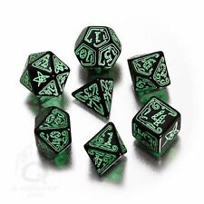 Q-Workshop Polyhedral 7-Dice Set: Call of Cthulhu Black & Green