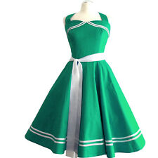 Rockabilly 50er   Kleid Petticoat Pin Up Party Baumwolle S/ML 113 Grün