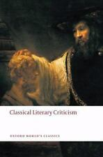 Classical Literary Criticism (Oxford World's Classics), , Good Book