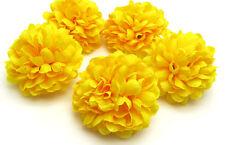 10pcs Daisy Artificial flower Silk Spherical Heads Bulk Wedding Decor yellow 5CM