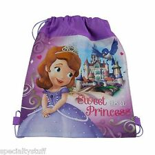 NEW DISNEY SOFIA THE FIRST NON WOVEN SLING BAG CLUBHOUSE DISNEY JUNIOR