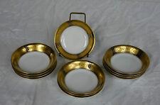 12 Hutschenreuther Selb Bavaria Gold Encrusted Cobalt Fruit Bowls HUT3025