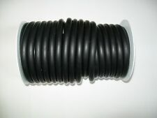 "50 Feet 1/4"" ID x 1/8 w x 1/2"" OD Latex Rubber Tubing Black heavyduty"