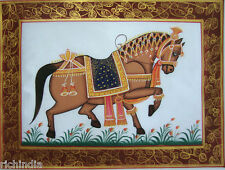 Miniature Painting Royal Horse Pintura En  Real Handmade Online Sale_AR666