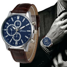 Men's Modernistic Chronograph Designer Watch with Crocodile Effect Leather Strap