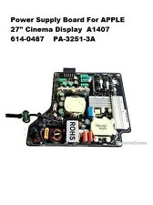 "250W Power Supply Board For APPLE 27"" Cinema Display 614-0487 PA-3251-3A A1407"