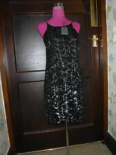 Stunning All Saints Massi Sequin Dress Black/Silver  Size 8 BNWT rrp£298