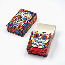 1 X SKULL Plastic Flip Open Tobacco Box Cigarette Storage Case 100s