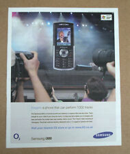 SAMSUNG i300 mobile phone - 2005 -  full page advert poster -  12 x 10