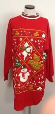 NWT Red New VINTAGE Ugly Christmas PJS Pajama Sweater long One size Fits MOST