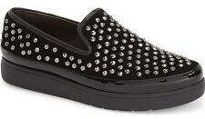 NIB Donald J Pliner Mickey Women's Studded Platform Slip-On Sneaker Loafer 10