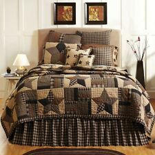 BINGHAM STAR PATCHWORK TWIN BED QUILT By VHC/COUNTRY STAR BEDDING