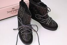Boots Black Juicy Couture Size 8 Shoes NEW Women's $89.99 Mareen Ankle Sparkle