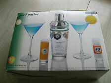 Luminarc Pool Parlor 5 Piece Cocktail Set - Martinis - Shooter Glasses - Shaker