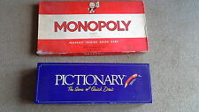 JOBLOT Vintage Board Game Collectable monopoly pictionary