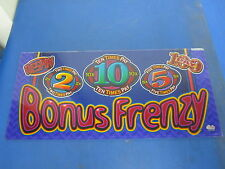 Bally Gaming Inc. Bonus Frenzy 10x Pay Casino Slot Glass - Great Deal!