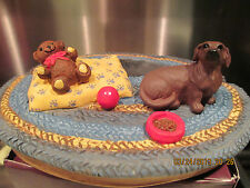 DACHSHUND RED   WITH TEDDY BEAR   PICTURE FRAME