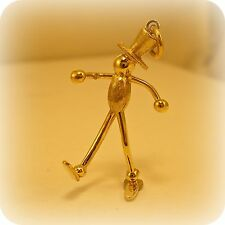 14 carat Gold Stick Man Pendant, hallmarked in Edinburgh
