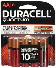 2 Pk Duracell Quantum AA Batteries With Duralock Power Preserve Technology 8 Ea