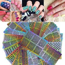 24 Pcs Tips/Sheet Nail Vinyls Nail Art Stencils Hollow Stickers Manicure Decals