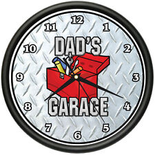 DADS GARAGE 2 Wall Clock father mechanic workshop gift