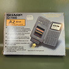 SHARP IQ-7400 Electronic Organizer with manual in original box. new Old Stock