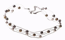Trendy & Unique Gold, Chrome & Gun Metal Ball/metal Wire Choker Necklace(Zx194)