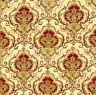 Dolls House Wallpaper 1/12th 1/24th scale Red Quality Paper #119