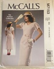 """New McCall's Sewing Pattern M7153 """"Archive Collection 1933"""" 30s Style 14 - 22"""
