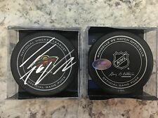 SIGNED OFFICIAL NHL GAME PUCK MINNESOTA WILD THOMAS VANEK