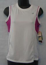 Women's T Shirt New Balance Size Small New #3662 White