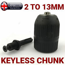 """Easy Use Keyless Chunk 1/2"""" 2mm to 13mm Includes SDS plus Adaptor Drill, Hand"""