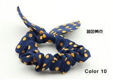Bunny Ears Shape Dot Pattern Hair Rope Hair Accessories Bow Rubber Band Color 10