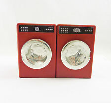 SALE! Dollhouse Miniature Modern RED Washer and Dryer Set