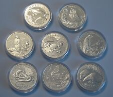8 x 20 zl, Ag 925/1000, silver, coins Munzen Animals of the World Tiere der Welt