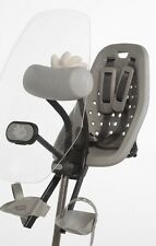 Yepp Mini Bicycle Baby Infant Seat Gray Windshield, Sleep Roll Front Bike Child