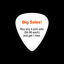 Big Sales! Buy any 4 sets guitar picks and get 1 set free (till 31st Jul)