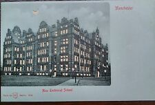 MANCHESTER NEW TECHNICAL SCHOOL HOLD TO LIGHT WH BERLIN POSTCARD