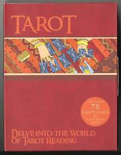 TAROT Box Set with beginner instruction book, deck of 78 large-format cards NEW
