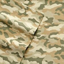 NWT $80 CUDDL DUDS FULL FLANNEL CAMO CAMOUFLAGUE SHEET SET