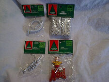 4 VINTAGE WAL-MART CHRISTMAS TREE ORNAMENTS SEALED,Noel,French Horn,Packages