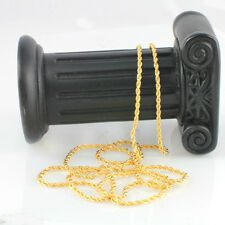 18k Yellow Gold Filled Twist Long chain-Necklace- 60 cm,Thin Chain