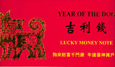 Year of the Dog, Unc 2003 $1, 4 - 8888's in the Serial #, from the BEP (T-142)