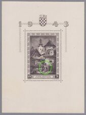 Kroatien 1943 Block mit Stecherzeichen Mi.Nr. 6 I postfrisch