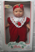 RARE GOLDBERGER LARGE HOLIDAY HUGS LIMITED EDITION BABY DOLL - NEW IN BOX